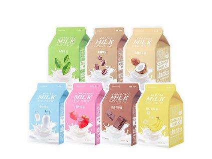 Missha - A'PIEU Milk One-Pack – Plátýnková maska s mléčným extraktem