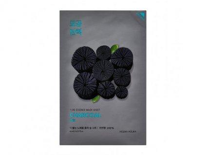 Holika holika - Plátýnková maska Pure Essence, dřevěné uhlí1433 naomask pure essence mask sheet charcoal