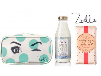 Zoella Beauty - Dárková sada Wink at Zoella (taštička, sprchový gel a kostky do koupele)