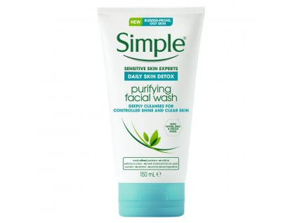 Simple - Daily Detox čistící gel na obličej 150 ml
