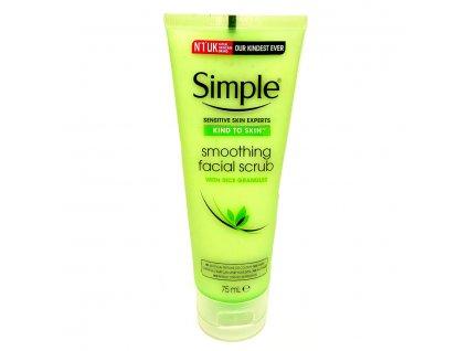 Simple - Kind to skin Vyhlazující pleťový peeling 75 ml