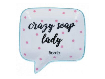 BOMB - Keramická miska na mýdlo Crazy soap lady