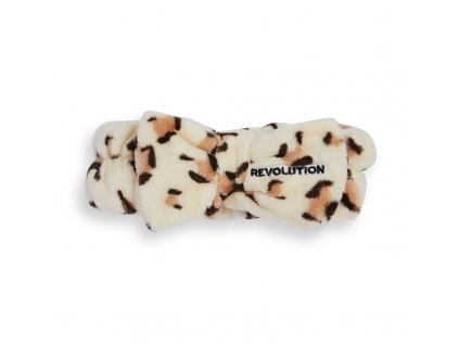 Makeup Revolution Skincare - kosmetická čelenka  Luxe Leopard Print