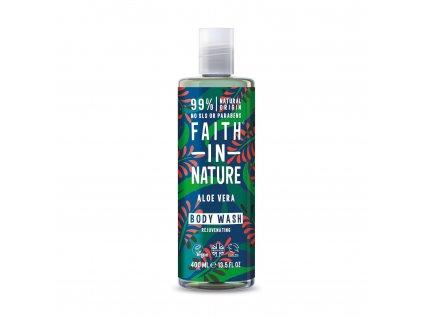 Faith In Nature - Sprchový gel s BIO Aloe Vera 400 ml