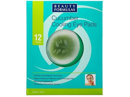 Beauty Formulas - Okurkové polštářky na oční víčka 12 ks