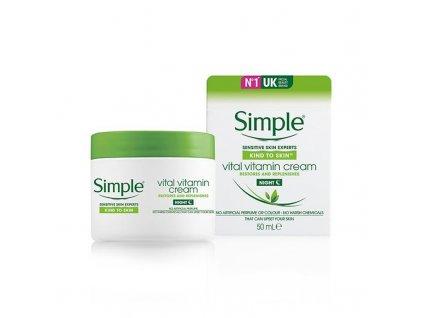 Simple - Kind to skin noční krém s vitamíny 50ml