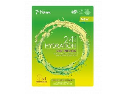 7th Heaven - 24h Hydratační plátýnková maska s CBD olejem