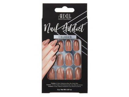 Ardell - Nehty Ardell Nail Addict LATTE (24 ks)