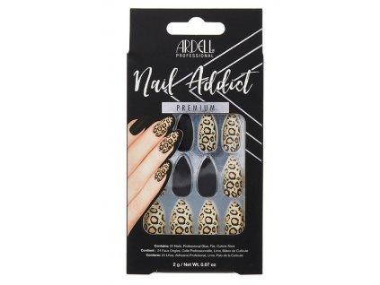 AR 63835 NAIL Ardell - Nehty Ardell Nail Addict BLACK LEOPARD (24 ks)FRONT