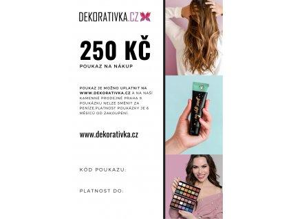 Elektronický dárkový poukaz na nákup zboží v hodnotě 250 Kč DEKORATIVKA.CZ