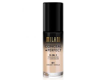 MILANI - 2v1 makeup a korektor 01 CREAMY VANILLA