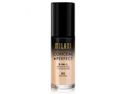 MILANI - 2v1 makeup a korektor 02 NATURAL 30 ml