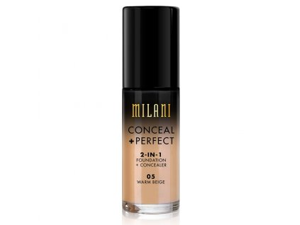 MILANI - 2v1 makeup a korektor 05  WARM BEIGE 30 ml