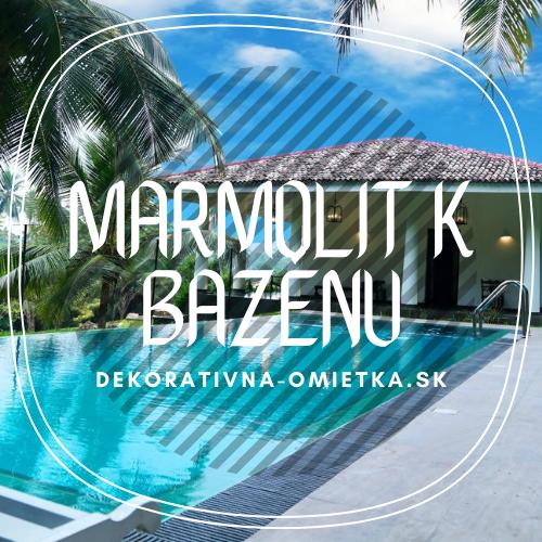 Marmolit dodá vášmu bazénu dokonalý vzhľad