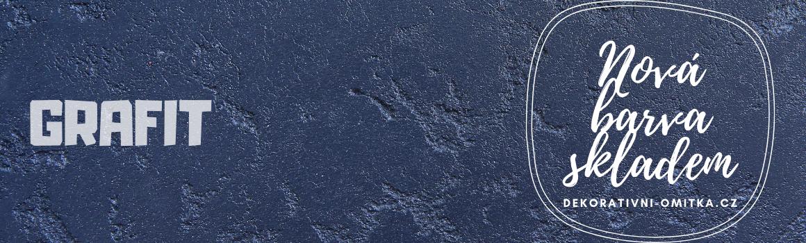 Nová barva grafiit skladem, betonová stěrka