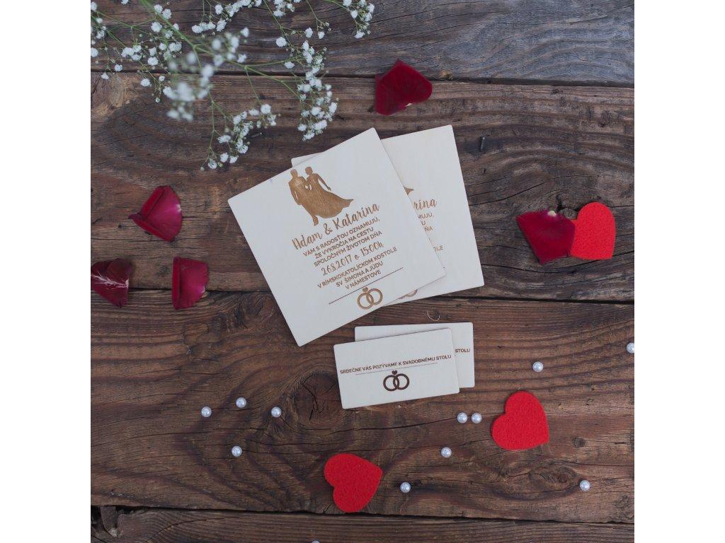 Svadobné oznámenie (Materiál Topoľ)