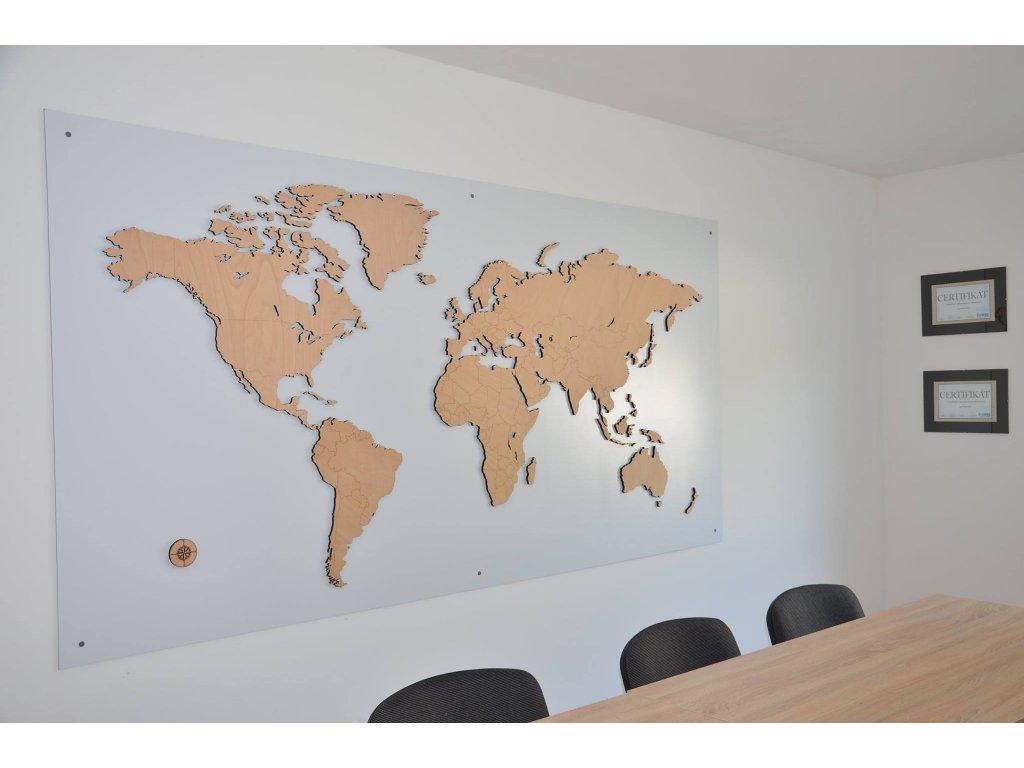 Mapa Sveta (Materiál Topoľ)