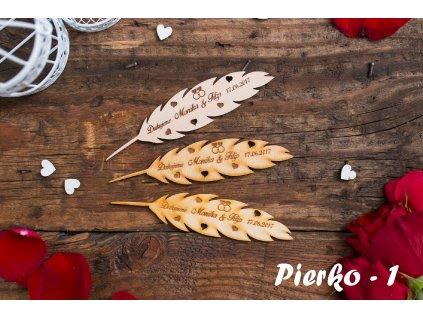 Svadobné magnetky-Pierko  Pierko