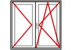 Balkónové dveře Dvoukřídlé Aluplast Ideal 4000