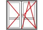 Balkónové dveře Dvoukřídlé dělené Aluplast Ideal 4000