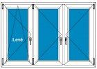 Plastové okno 140x130 Trojdílné se sloupky Aluplast Ideal 4000 - Maco Multi-Trend