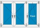Plastové okno 160x140 Trojdílné se sloupky Aluplast Ideal 4000 - Maco Multi-Trend