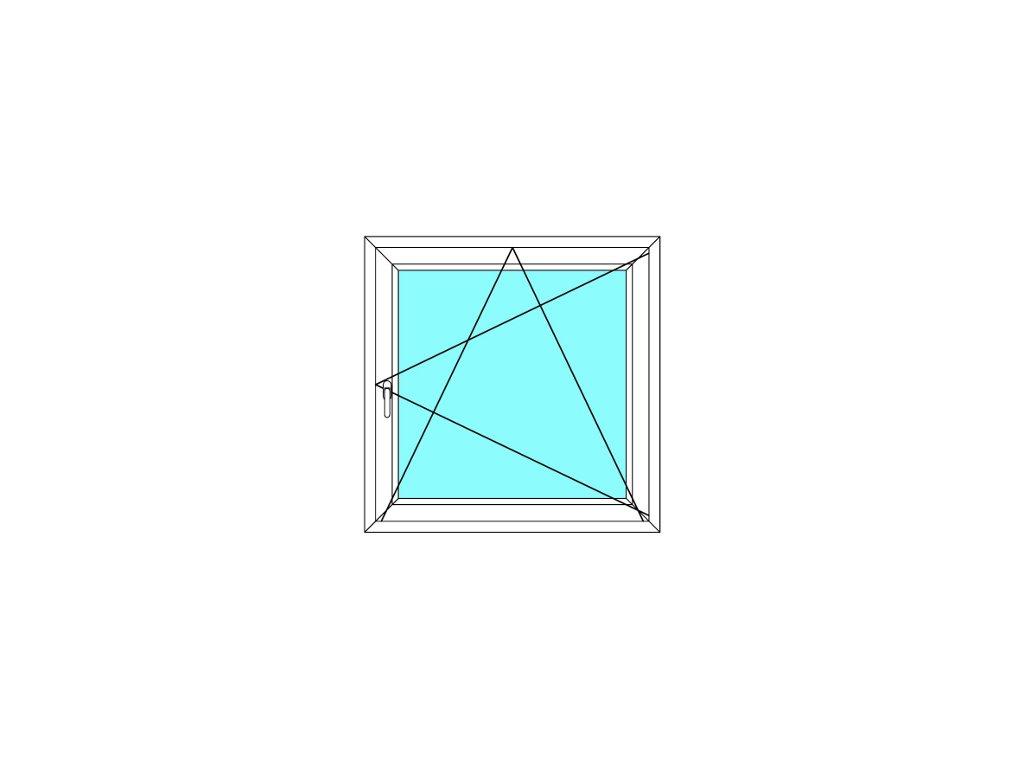 Plastové okno 80x150 Otevírací a Sklopné Aluplast Ideal 4000