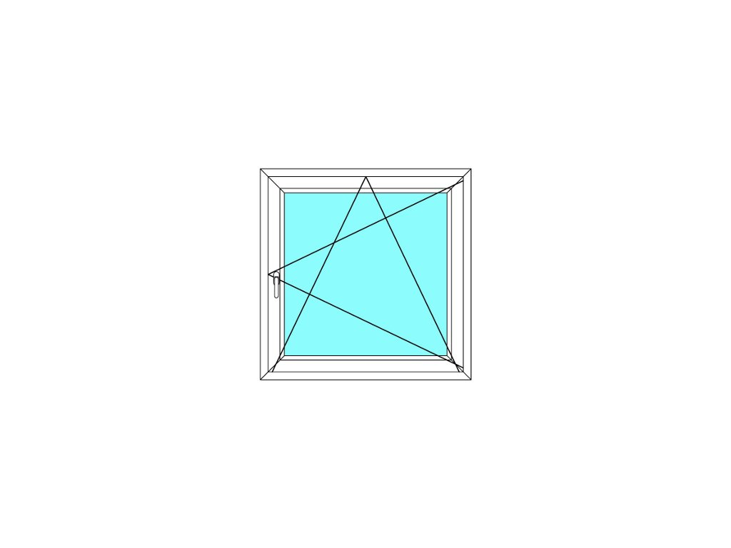 Plastové okno 80x170 Otevírací a Sklopné Aluplast Ideal 4000