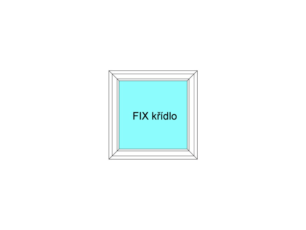 Plastové okno 80x130 Jednodílné Neotevíratelné křídlo FIX Aluplast Ideal 4000