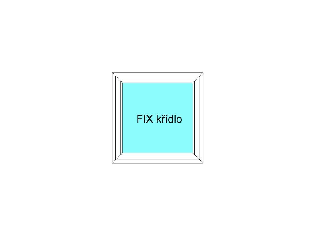 Plastové okno 80x160 Jednodílné Neotevíratelné křídlo FIX Aluplast Ideal 4000