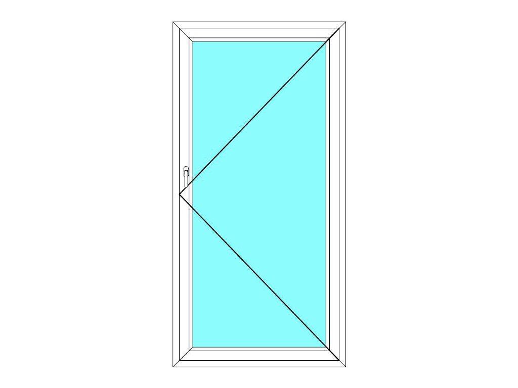 Balkónové dveře 80x200 Jednokřídlé Otevírací Aluplast Ideal 4000