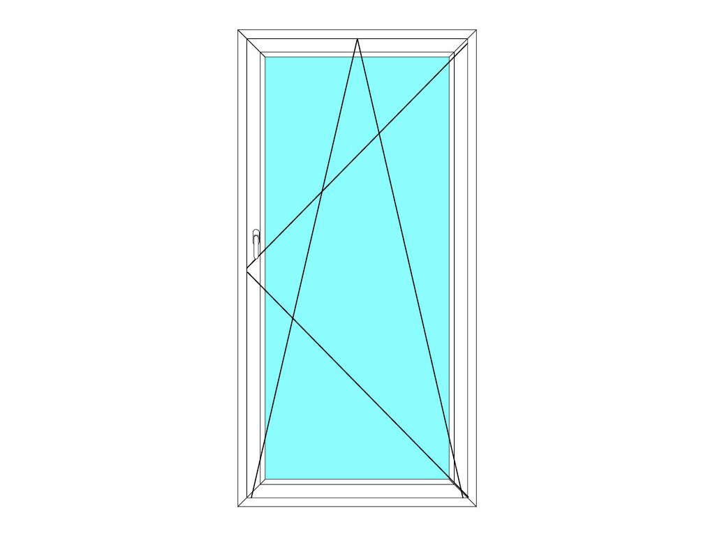 Balkónové dveře 80x200 Jednokřídlé Otevírací a Sklopné Aluplast Ideal 4000