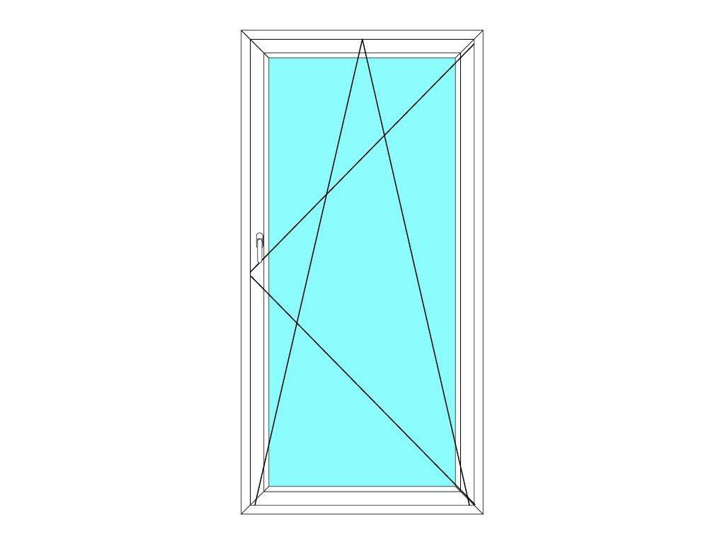 Balkónové dveře 90x200 Jednokřídlé Otevírací a Sklopné Aluplast Ideal 4000
