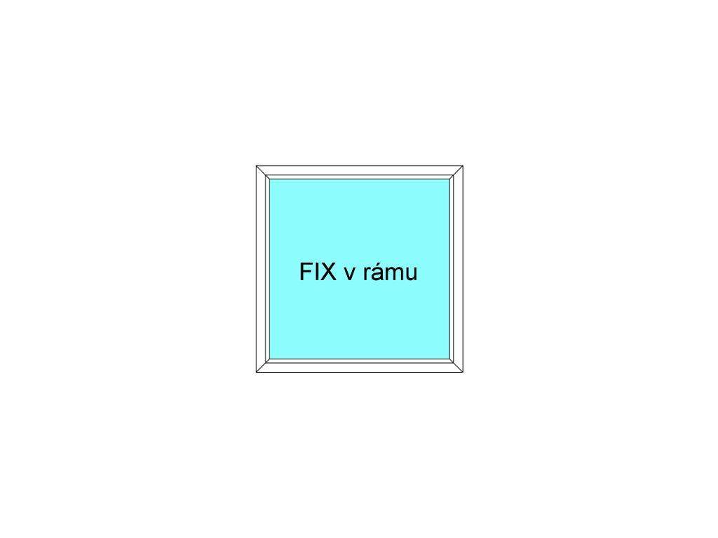 Plastové okno 150x40 Jednodílné Fix v Rámu Aluplast Ideal 4000