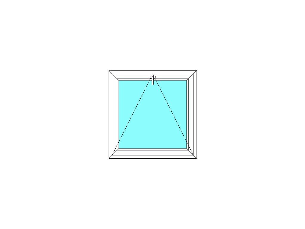 Plastové okno 80x40 Jednodílné Sklopné Větrací Aluplast Ideal 4000