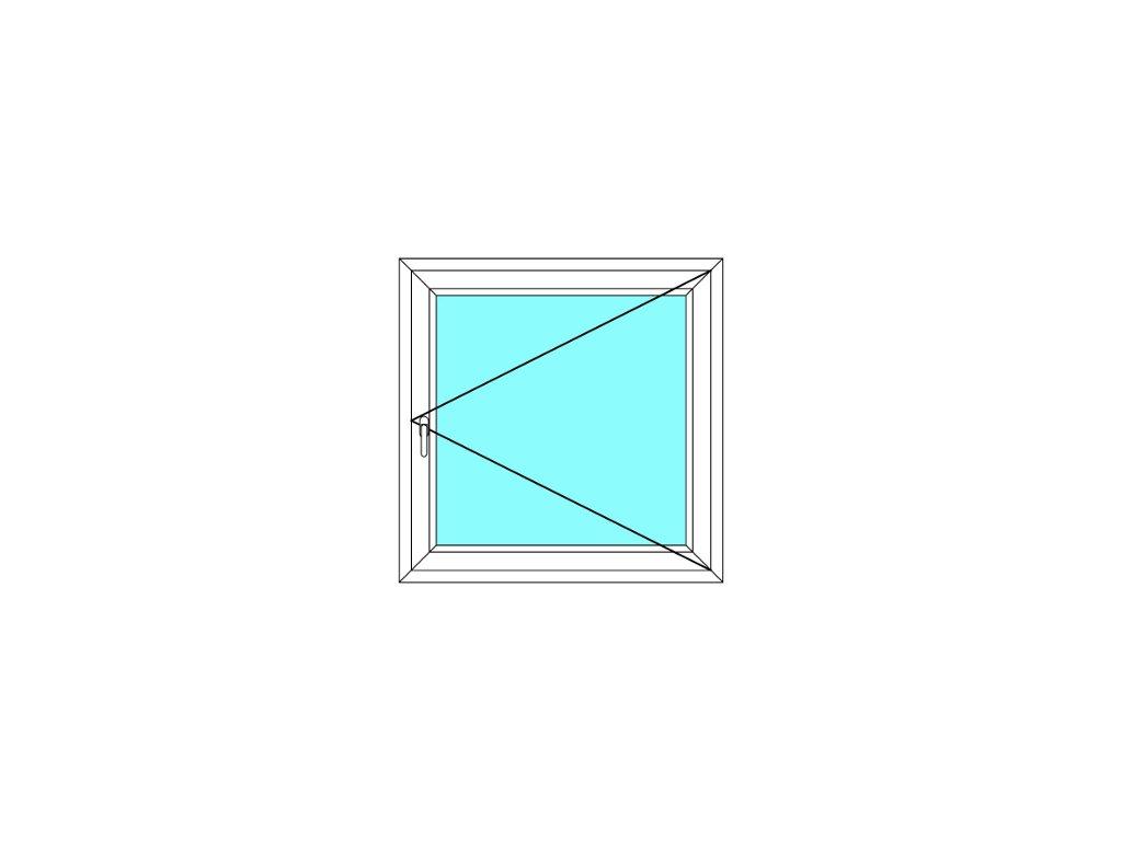 Plastové okno 40x80 Jednodílné Otevírací Aluplast Ideal 4000