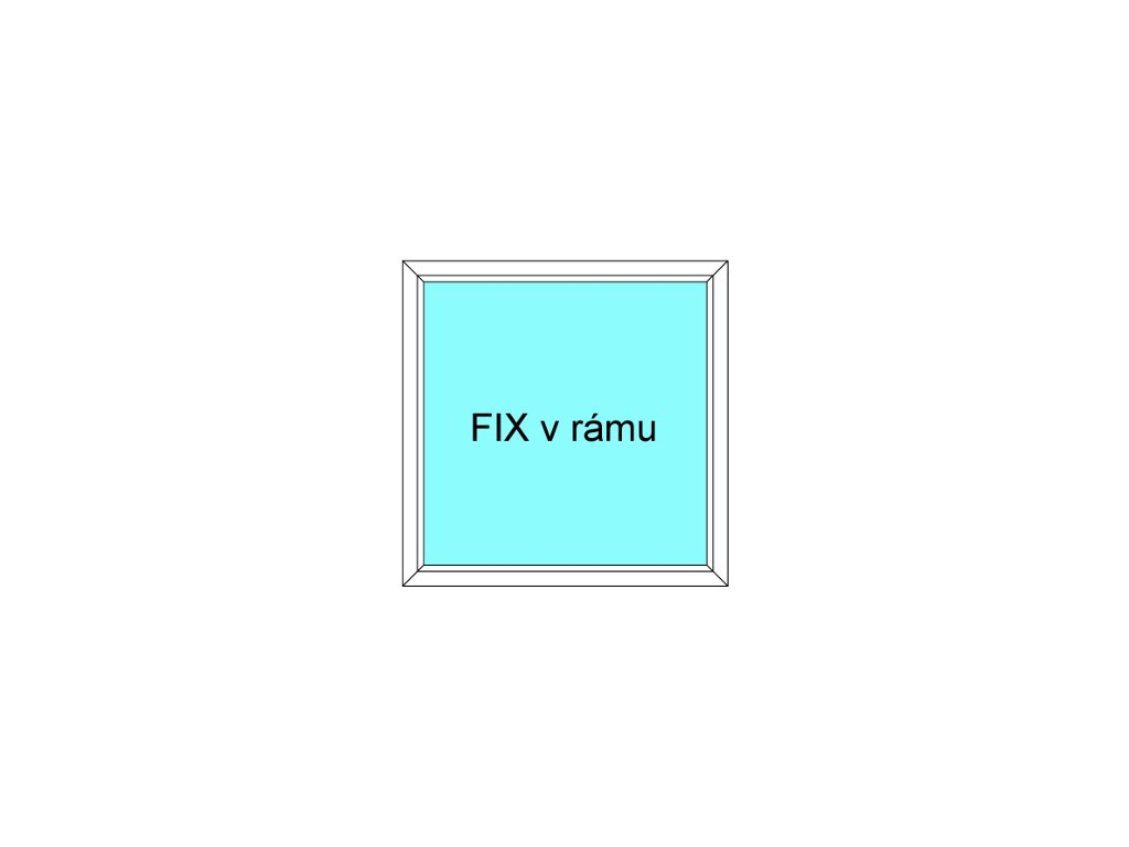 Plastové okno 120x40 Jednodílné Fix v Rámu Aluplast Ideal 4000