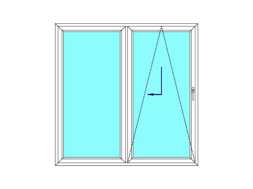 Sklopně posuvné dveře 200x210 PATIO (PSK) Fix Křídlo Aluplast Ideal 4000
