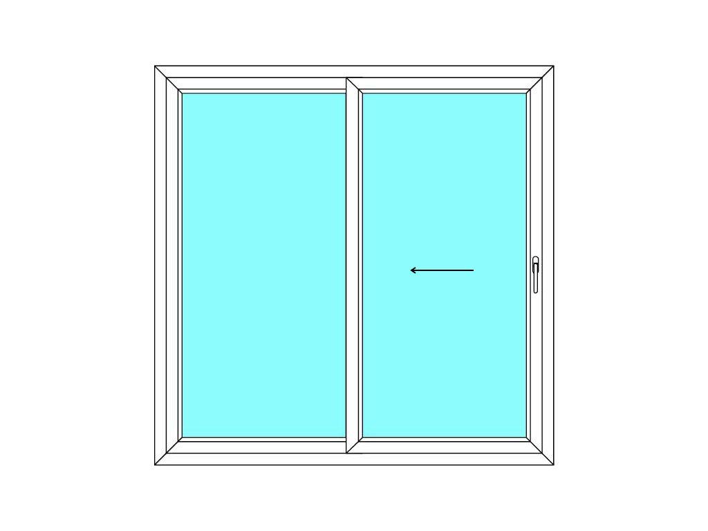 Posuvné dveře 160x210 Multi-SLIDE (ST) Aluplast Ideal 4000