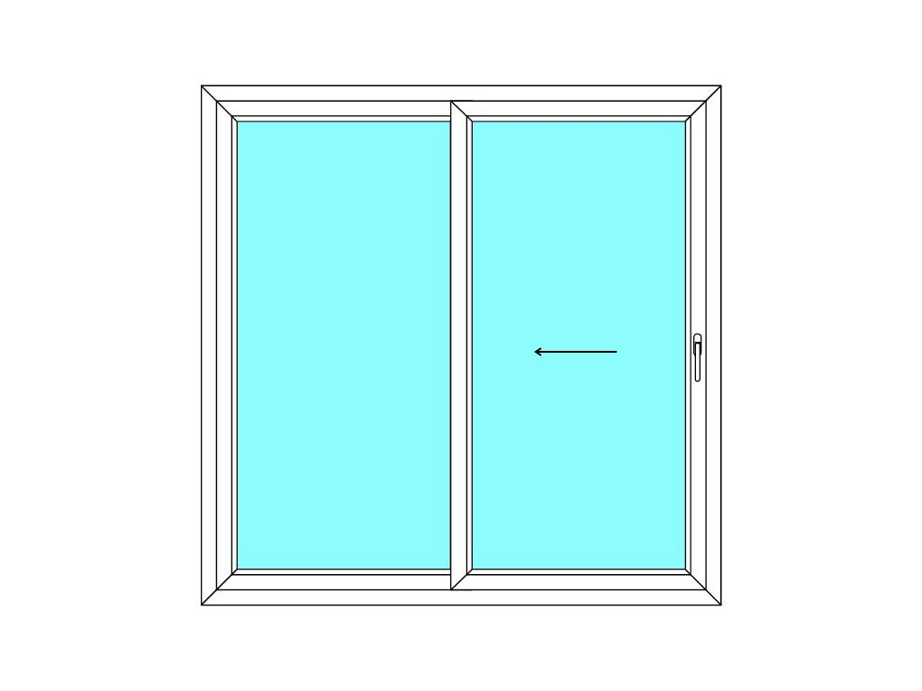 Posuvné dveře 200x190 Multi-SLIDE (ST) Aluplast Ideal 4000