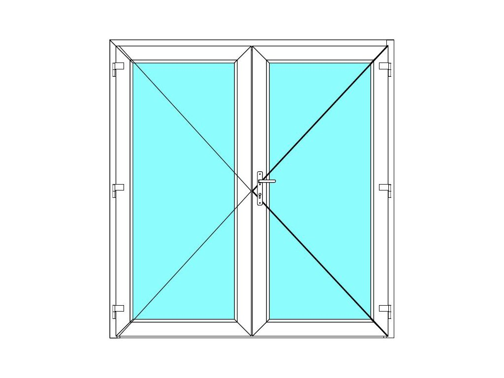 Vchodové dveře 150x220 Dvoukřídlé Aluplast Ideal 4000