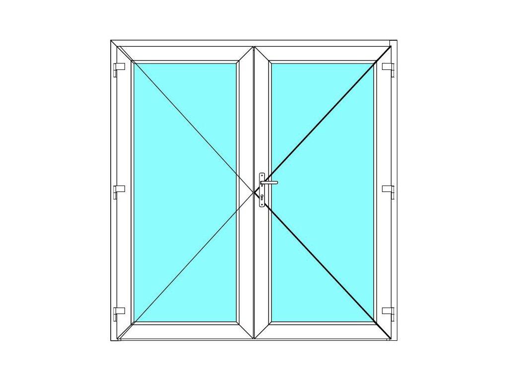 Vchodové dveře 170x220 Dvoukřídlé Aluplast Ideal 4000