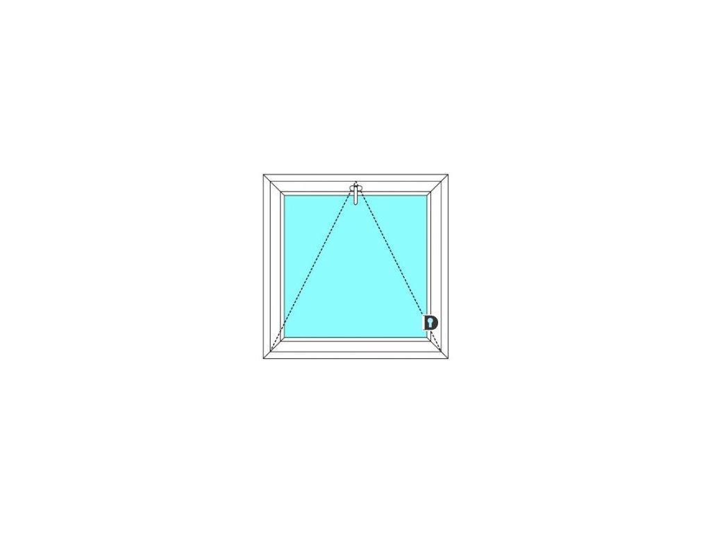 Plastové okno 80x50 cm Jednokřídlé Sklopné větrací Ekosun 6