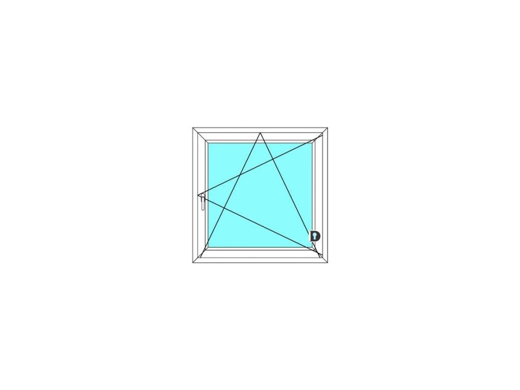 Plastové okno 130x120 cm Jednokřídlé Otevírací a sklopné Ekosun 6
