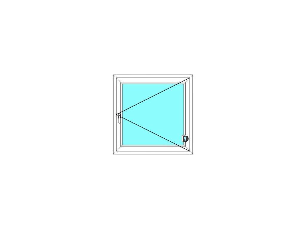Plastové okno 80x150 cm Jednokřídlé Otevírací Ekosun 6