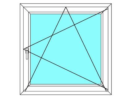 Plastové okno 100x100 Otevírací a Sklopné Aluplast Ideal 4000