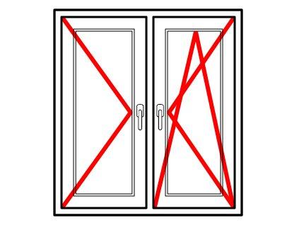 Plastové okno 120x80 Dvoudílné se středovým sloupkem Aluplast Ideal 4000