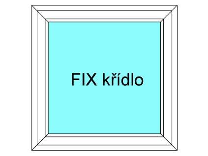 Plastové okno 130x40 Jednodílné Neotevíratelné křídlo FIX Aluplast Ideal 4000