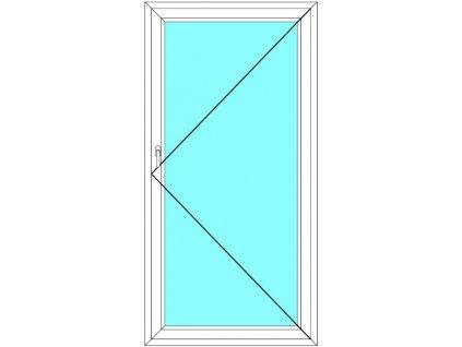 Balkónové dveře 100x200 Jednokřídlé Otevírací Aluplast Ideal 4000