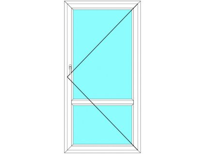 Balkónové dveře 60x210 Jednokřídlé Otevírací dělené Aluplast Ideal 4000